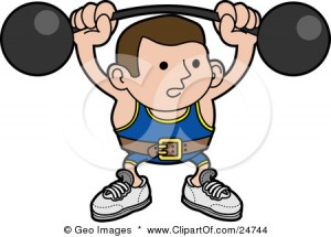 24744-Clipart-Illustration-Of-A-Strong-Body-Builder-Holding-A-Heavy-Barbell-Above-His-Head-And-Wearing-A-Belt-300x215.jpg