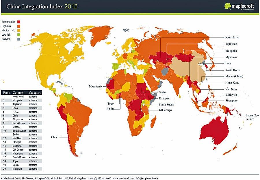 I paesi con il più alto volume di scambi con la Cina: interi continenti si trovano in pericolo da da un rallentamento cinese.