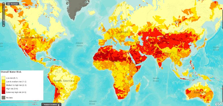 Rischio siccità: non si tratta solo isolato intorno all'equatore.