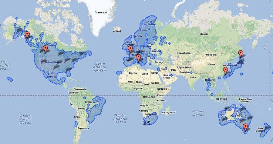 Google Maps Street territori di vista: hanno finalmente esteso al di là paesi di lingua inglese.
