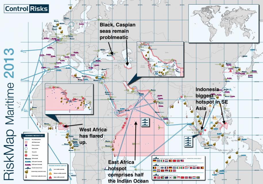 Aree più rischiose per la spedizione: dove i pirati dominare i mari.