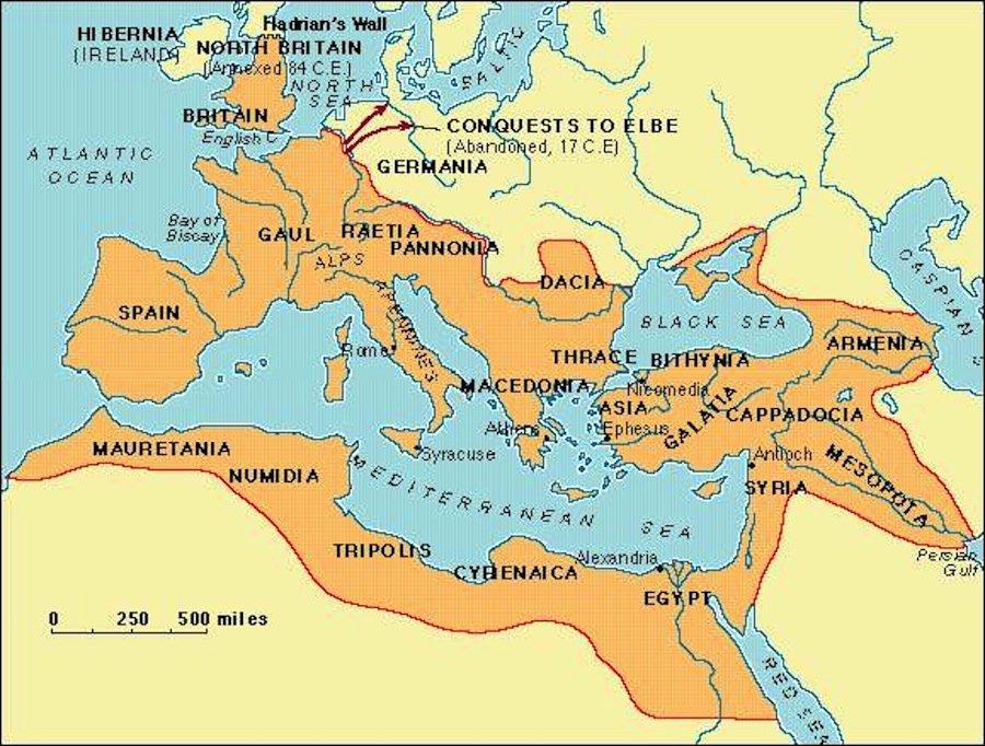 Impero romano sotto Traiano: come l'Occidente ha i suoi linguaggi.