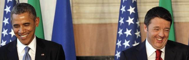"""Ue, Ucraina:  Obama e Renzi  sulla stessa linea      Presidente Usa: """"Bene piani su  lavoro giovani """""""