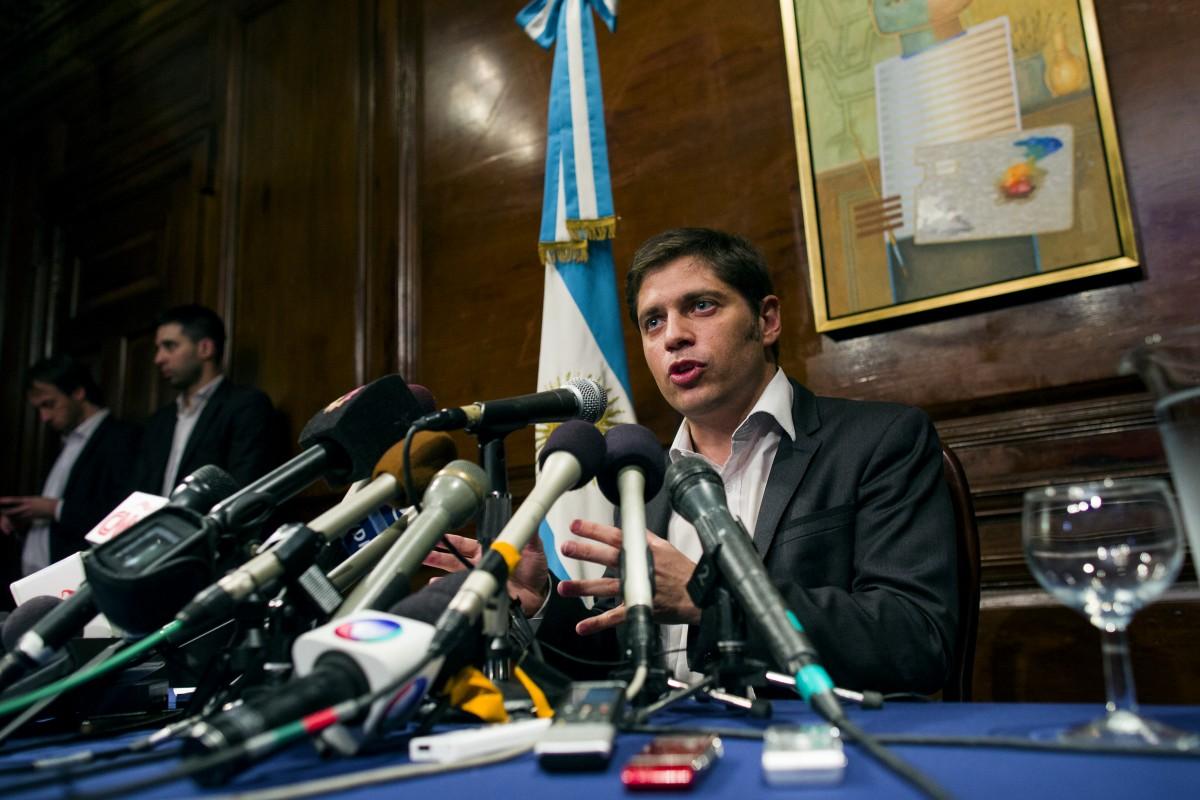 Il ministro argentino dell'Economia, Axel Kicillof (foto AP)