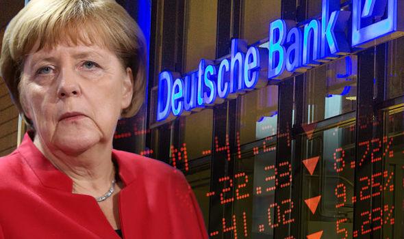 Risultati immagini per deutsche bank merkel