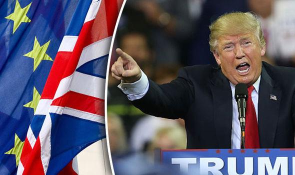 Risultati immagini per brexit trump