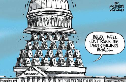Risultati immagini per debt ceiling cartoons