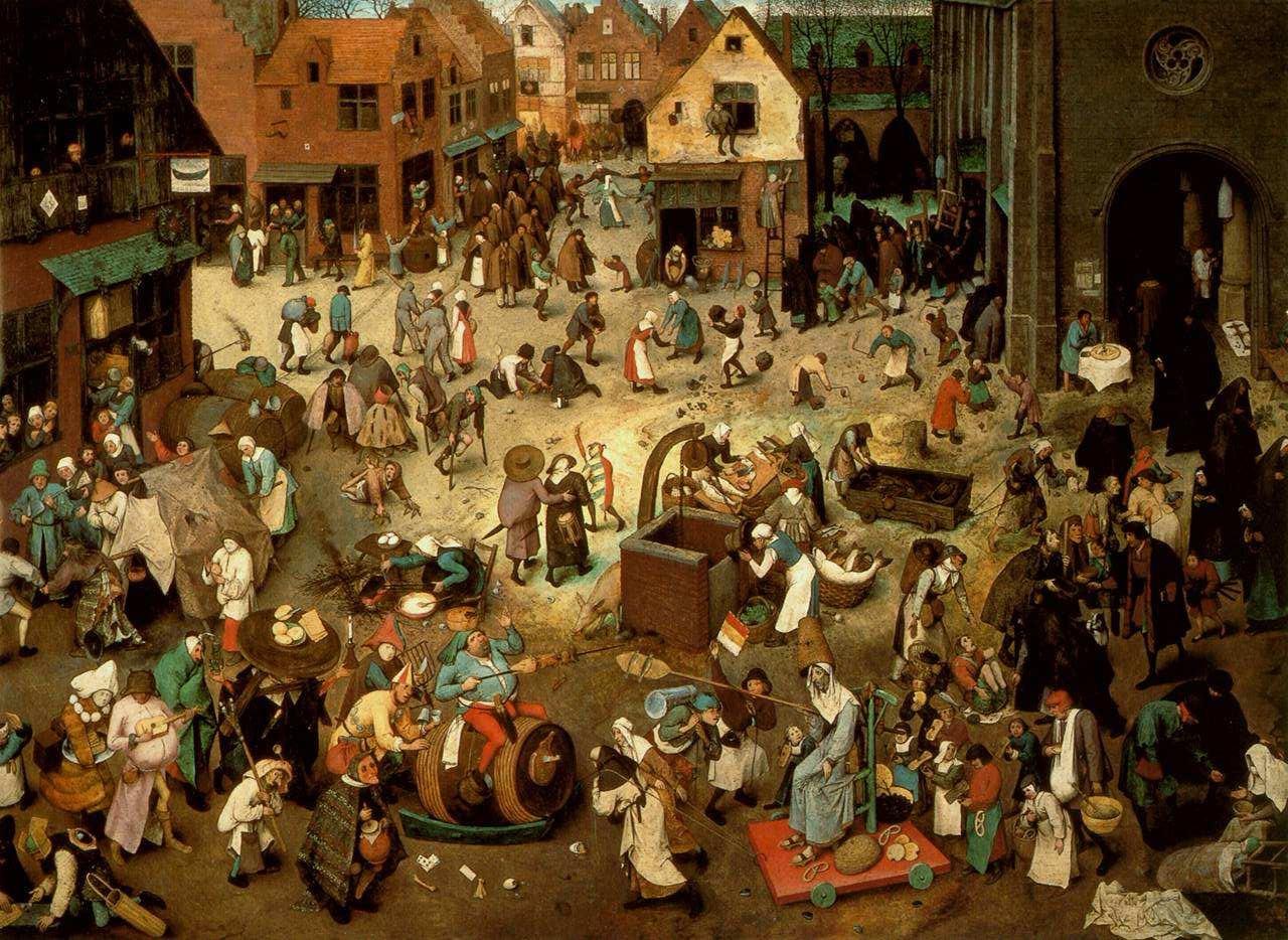 Risultati immagini per mercato medievale dipinto