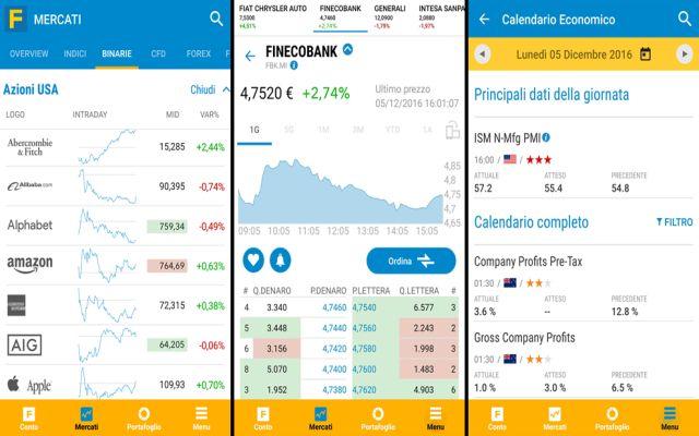 trading online, investimenti, app, applicazioni, fineco, finecobank
