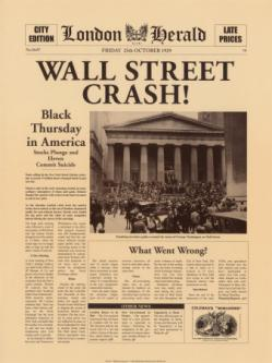 giornale wall street crash