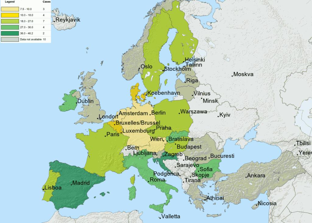 Cartina Con Capitali Europa.Cartina Europa Politica Capitali