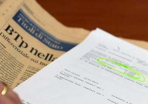 BOT: FIRMA DI RICHIESTA DI ACQUISTO BUONI TESORO IN BANCA