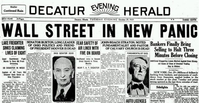 Un nuovo 1929 è alle porte? Dai, non esageriamo (...)