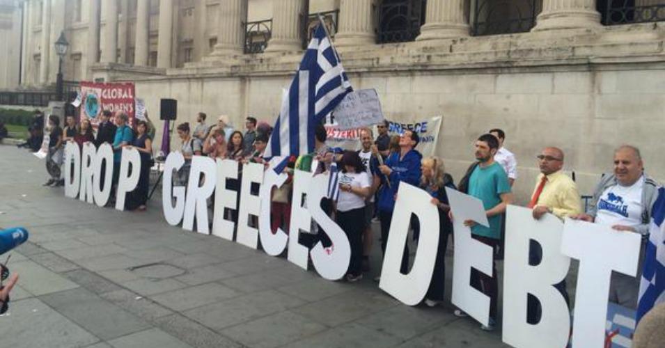 Solidarity-protest-against-Greek-debt-London-p6-Credit-Global-Justice-Greece