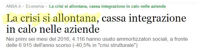 La crisi si allontana  cassa integrazione in calo nelle aziende   Economia   ANSA.it