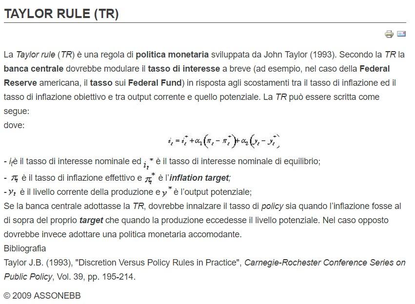 taylor-rule-cosa-è-spiegazione