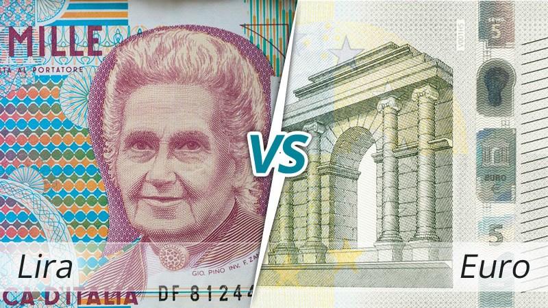 lira contro euro lex monetae