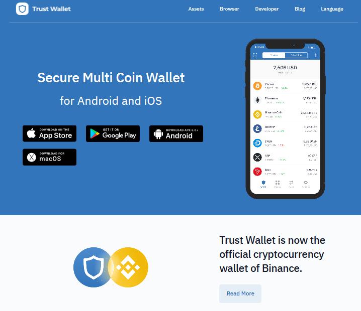 Trust Wallet, App con le chiavi private